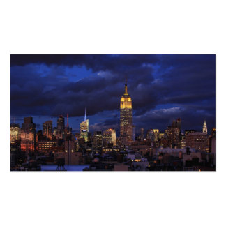 Empire State Building in Yellow, Twilight Sky 02 Double-Sided Standard Business Cards (Pack Of 100)