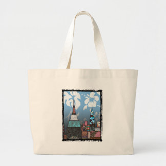 Empire State Building Large Tote Bag