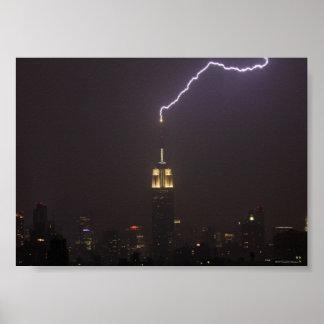 Empire State Building Lightning Strike #1 Poster