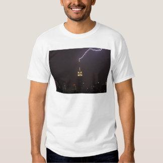 Empire State Building Lightning Strike #1 T Shirt