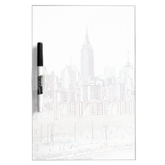 Empire State Building line drawing Dry-Erase Whiteboard