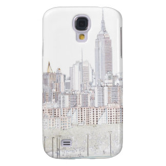 Empire State Building line drawing Galaxy S4 Case