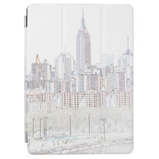 Empire State Building line drawing iPad Air Cover