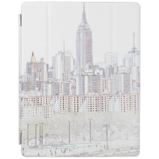 Empire State Building line drawing iPad Cover