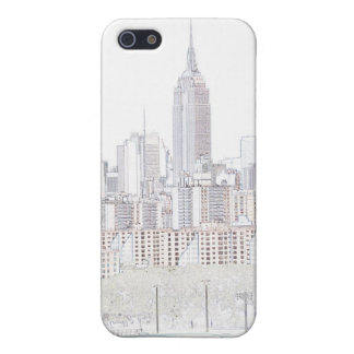 Empire State Building line drawing iPhone 5 Covers