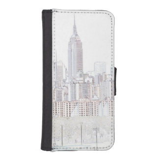 Empire State Building line drawing iPhone SE/5/5s Wallet Case