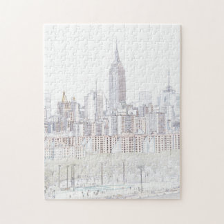 Empire State Building line drawing Jigsaw Puzzle