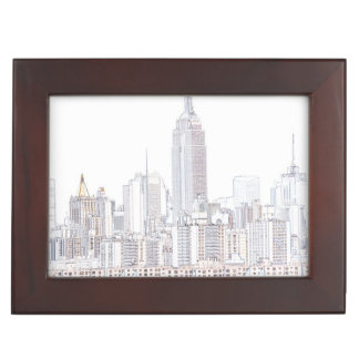 Empire State Building line drawing Keepsake Box
