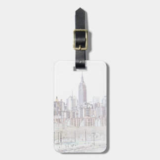 Empire State Building line drawing Luggage Tag