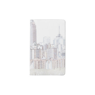 Empire State Building line drawing Pocket Moleskine Notebook
