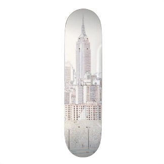 Empire State Building line drawing Skateboard Deck