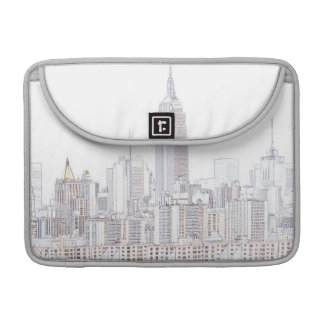 Empire State Building line drawing Sleeve For MacBooks
