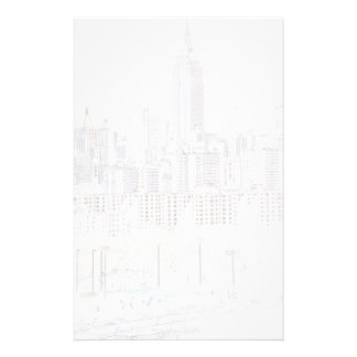 Empire State Building line drawing Stationery Paper