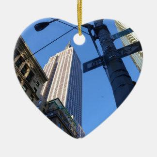 Empire State Building Manhattan Ceramic Heart Decoration