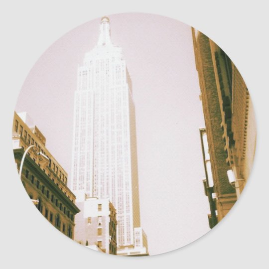 Empire State Building, New York City Classic Round