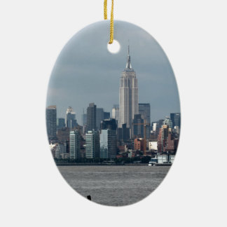 Empire State Building New York USA Ceramic Oval Decoration