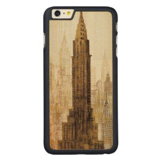 Empire State Building NYC Carved Maple iPhone 6 Plus Case