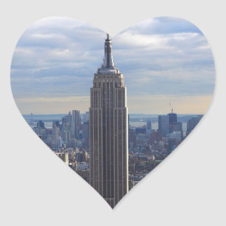 Empire State Building NYC, NY Heart Sticker