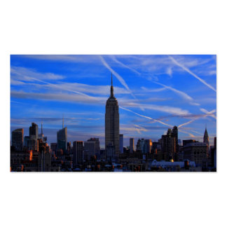 Empire State Building, NYC Skyline and Jet Trails Pack Of Standard Business Cards