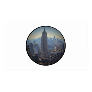 Empire State Building, NYC Skyline, Fish Eye View Double-Sided Standard Business Cards (Pack Of 100)