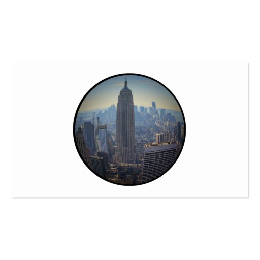 Empire State Building, NYC Skyline, Fish Eye View Business Card Template