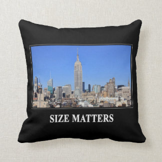 Empire State Building, NYC Skyline: Size Matters Cushion