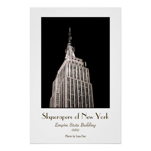 Empire State Building Poster (Tinted)