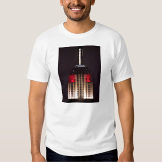Empire State Building Red and White Closeup Shirts
