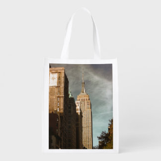 Empire State Building Skyscraper Photo Grocery Bags
