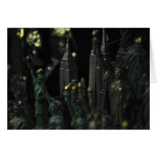 Empire State Building Statue of Liberty Card