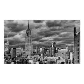 Empire State Building, Stormy NYC skyline, B&W Double-Sided Standard Business Cards (Pack Of 100)