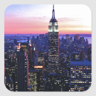 Empire State Building: Sunset Square Sticker