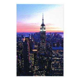 Empire State Building: Sunset Stationery Paper