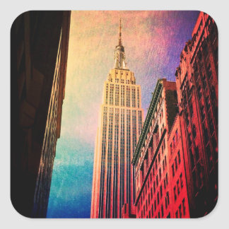 Empire State Building - Surreal - New York City Square Sticker