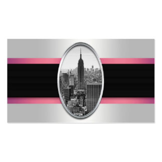 Empire State Building White Pink Stripes Pack Of Standard Business Cards