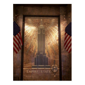 Empire State Building with flags, NYC Post Cards