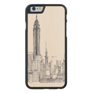 Empire State Carved Maple iPhone 6 Case