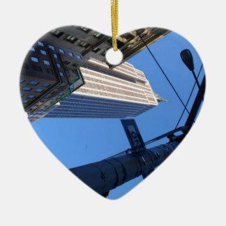Empire State. Ceramic Heart Decoration