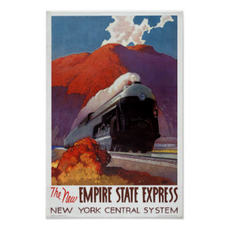Empire State Express Vintage Poster Restored