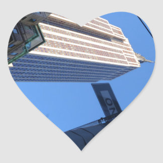 Empire State. Heart Sticker
