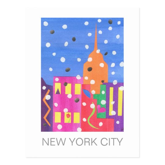 Empire State in Snow postcard