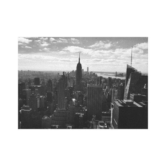 Empire State New York Canvas - Black &
