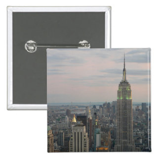 Empire State Twilight 15 Cm Square Badge