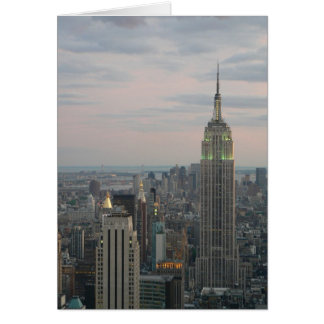 Empire State Twilight Greeting Cards
