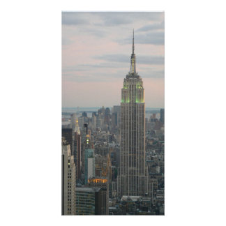 Empire State Twilight Customized Photo Card