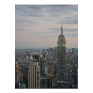 Empire State Twilight Poster