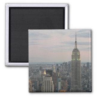 Empire State Twilight Square Magnet