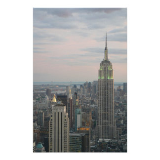 Empire State Twilight Personalized Stationery
