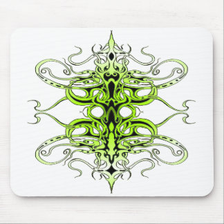 Empire Tribal Tattoo - green Mouse Mat