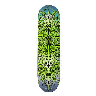 Empire Tribal Tattoo skateboard - green and blue